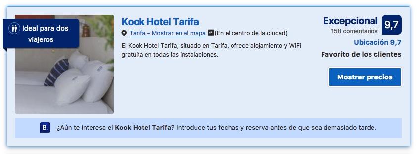 """KOOK cuenta ya con innumerables """"10 puntos"""" otorgados por clientes de booking.com"""
